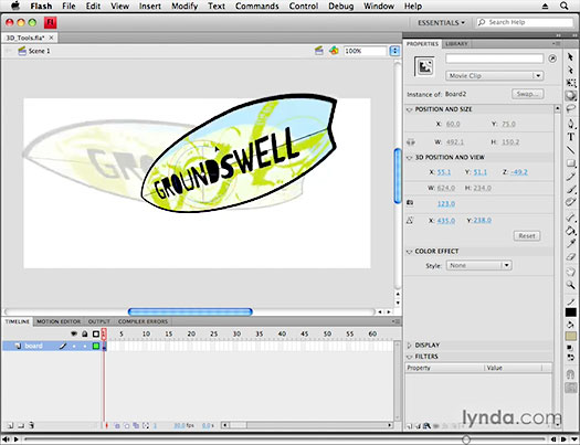 Using 3D Tools - Flash CS4 Video