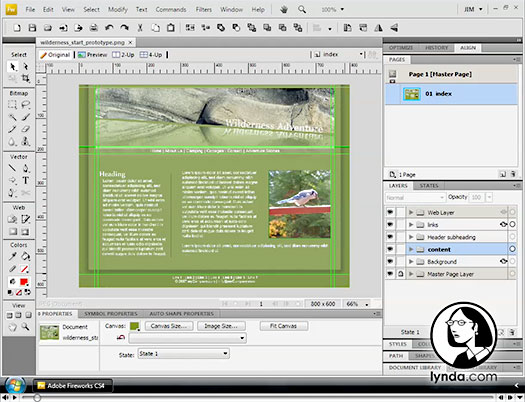 Prototyping A Web Design - Fireworks CS4 Video