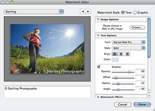 More Flexible Watermarks In Lightroom 3 — Photoshop