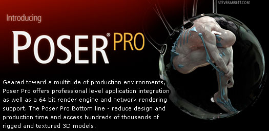 e frontier Introduces Poser Pro - 3D Animation Software That