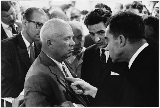 Mr. Hairgrove receiving a pre-Facebook poke from Richard Nixon