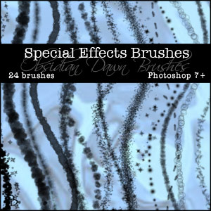 Free Photoshop Brushes  - Aurora Borealis Northern Lights Photoshop Brushes From Stephanie