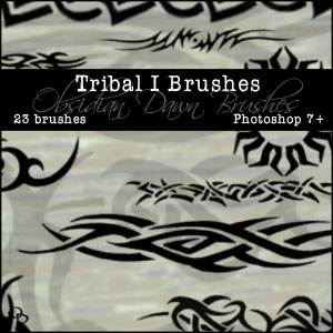 Photoshop Brushes From Stephanie - Tribal 1 & Tribal 2