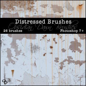 Distressed Images Photoshop Brushes From Stephanie
