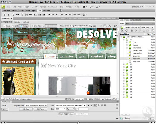 Dreamweaver CS4 Beta New Features
