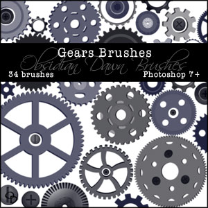Obsidian Dawn Photoshop Brushes Compilation CD