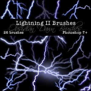 Lightening 2 Photoshop Brushes - Free Photoshop Brushes