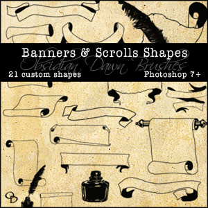 Banners And Scrolls Photoshop Shapes