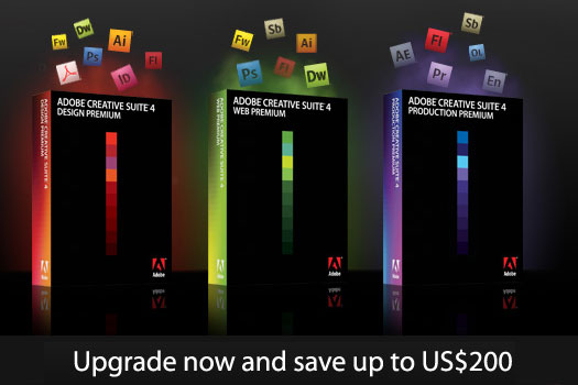 Adobe Creative Suite 4 Update Special Offer - Update From Earlier Versions Of Creative Suite And Save Up To $200
