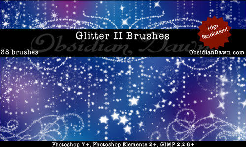 Glitter Photoshop Brushes From Obsidian Dawn