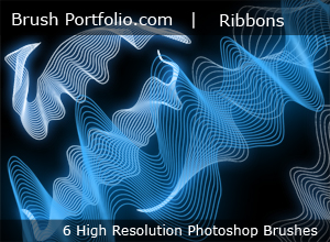 Abstract Ribbons And Flower Swirls - Free Photoshop Brushes