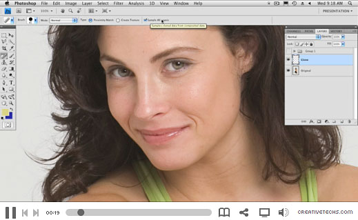Photoshop Skin Retouching Clips - 3 Free Video Clips