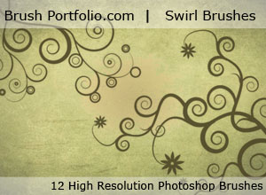 Swirls And Mannequins- Free Photoshop Brushes