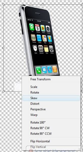 Working With The Free Transform Menu - Photoshop Tip