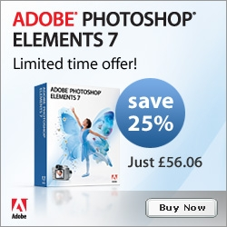 Adobe UK Special - Order Adobe Photoshop Elements 7 And Get 25% Off – Offer Ends June 1st, 2009