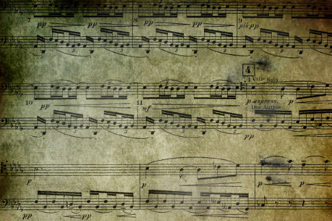 Free Grunge Sheet Music Textures From BittBox