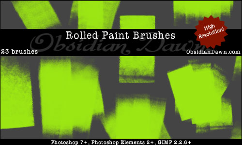 Rolled Paint - Free Photoshop Brushes