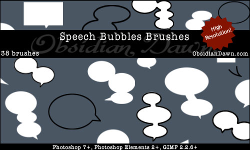 Free Speech Bubbles Photoshop Brushes From Obsidian Dawn