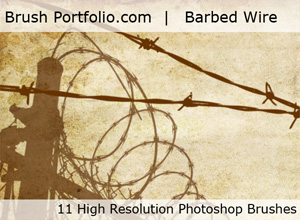 new set of free Barbed Wire Photoshop brushes