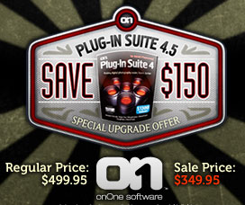Exclusive Discount - Photoshop Plugin Suite - Save $150 On onOne Plugin Suite 4.5 Until October 1 - Use Coupon Code PSS15