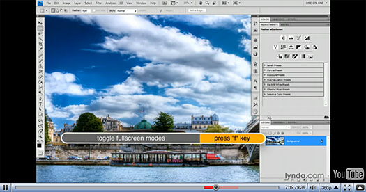 Photoshop Video Tutorial - Naviagtion Tools, Tips And Tricks