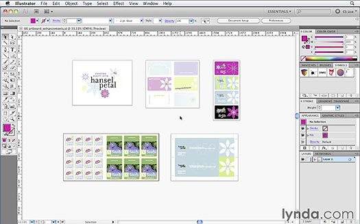 Click here to watch the Illustrator CS5 New Features: Multiple Artboard Enhancements: Using the new Artboards panel video