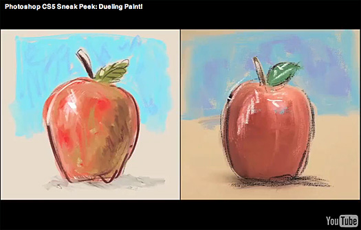 "Photoshop CS5 Sneak Peek — Painting With ""From Scratch"" Tool And Photo Interpretation Tool"