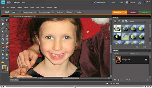Retouching Your Photos Using Photoshop Elements - Free Video Tutorials - Working With The Healing Brush Tools, The Clone Stamp Tool, And Removing Dust And Scratches