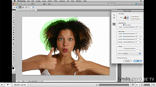 Using Improved Masking And Selecting In Photoshop CS5 - Video Tutorial