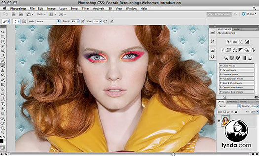 Photoshop CS5: Portrait Retouching - Free Video Clips