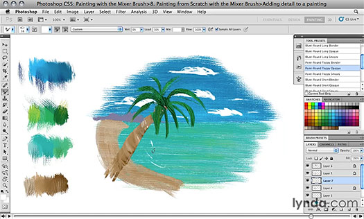 Photoshop CS5: Painting with the Mixer Brush - Free Training Video Clips