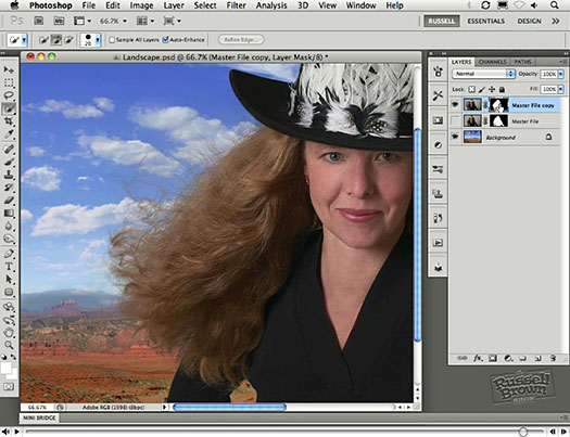 Photoshop CS5 Cutout Video Tutorial - Russell Brown