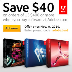 Save $40 on Adobe orders of $400 or more