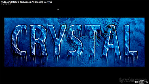 lick here to watch the free video tutorial, Creating Ice Text, in a neaDeke's Techniques - Creating Ice Text - Free Photoshop CS5 Hi-Def Video Tutorialw window