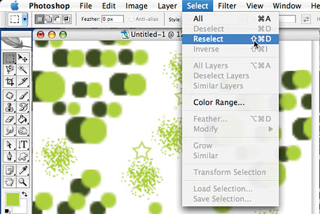 Photoshop Menu Tip - How To Reselect Selection