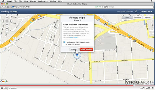 How To Use The Free Find My iPhone (And iPod Touch And iPad) Feature — Free Video Tutorial From lynda.com