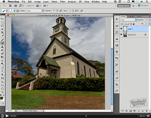Free Video Tutorial — Turn Brown Grass Green With Photoshop