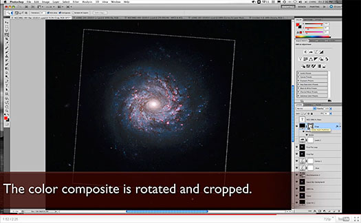 Creating A Hubble Galaxy With Photoshop - NASA Video