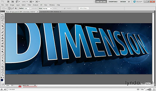 Making 3D Type With Repoussé - Free Photoshop Video Tutorial
