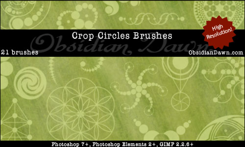 Free Photoshop Brushes From Obsidian Dawn - Crop Circles