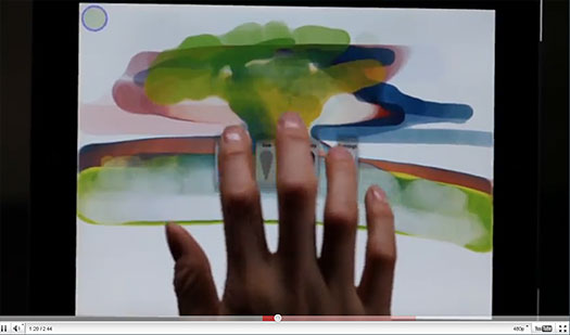 Photoshop Touch Preview Video - Photoshop CS5 Interaction With Tablets Video