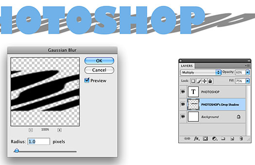 How To Change The Position Of A Text Drop Shadow In Photoshop