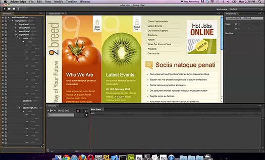Adobe Edge Preview - Animation Tool Video Preview
