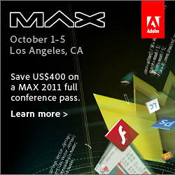 Save US$400 On Adobe MAX 2011 - Adobe Special Offer