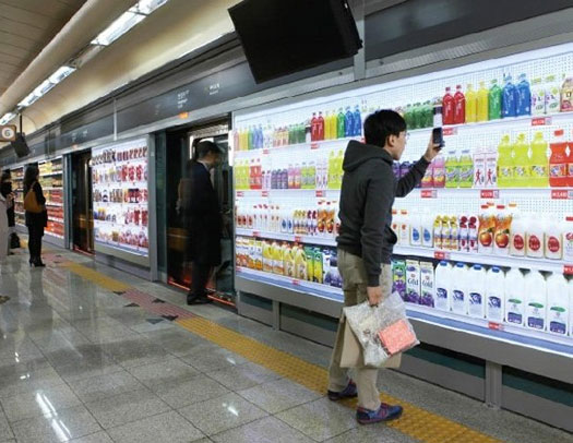Virtual Grocery Store In Metro Station