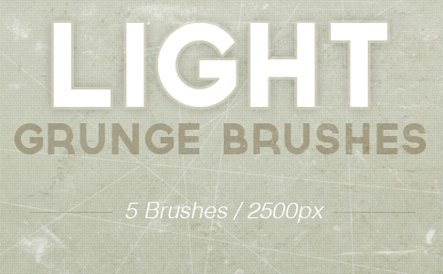Free Light Grunge Photoshop Brushes
