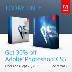 30% Off Photoshop CS5 - Photoshop CS5 $490, Photoshop Extended $700 - One Day Only