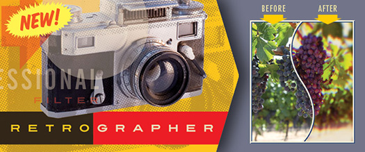 Mister Retro Releases Retrographer - Vintage Effects Plugin For Photoshop