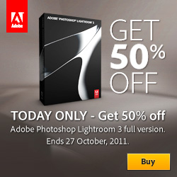 Get 50% Off Photoshop Lightroom In Adobe European Stores - Thursday, October 27 - One Day Only - Pay Only 149