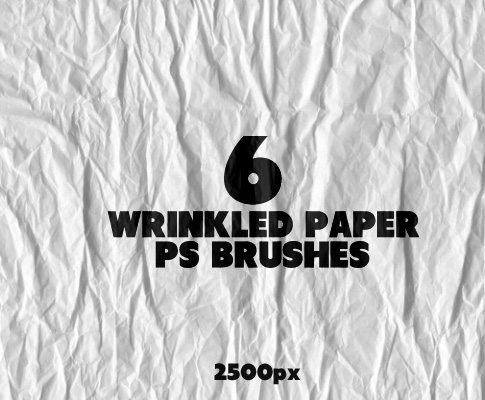 From Bittbox, 6 free wrinkled paper Photoshop Brushes. Very. Nice
